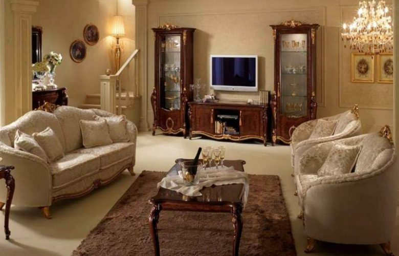 Come arredare il salotto in stile classico le dolci nanne for Arredare casa in stile classico